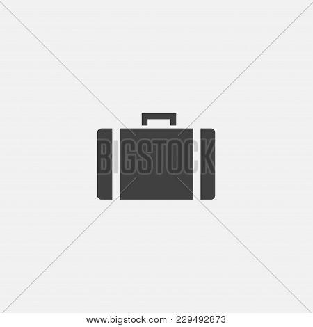 Suitcase Icon Vector Illustration. Bag Icon Vector.