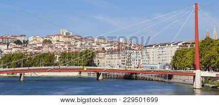 View On Lyon And Saone River, France