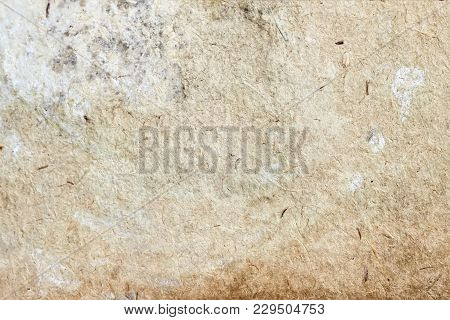 Texture Of Very Old Moldy Paper With Dirt Stains, Spots, Inclusions Cellulose, Brown Cardboard Textu