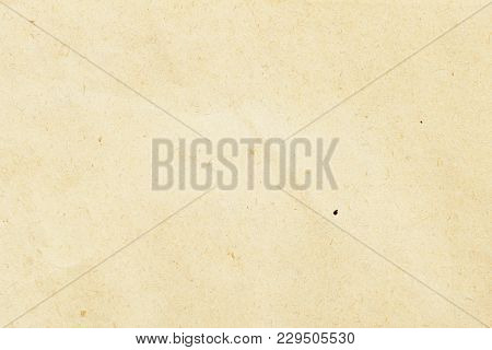 Texture Of Light Ecological Beige Paper, Background For Design With Copy Space Text Or Image. Recycl