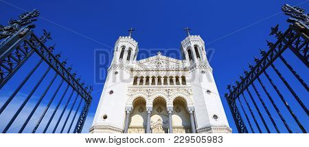 Fourviere Basilica In Lyon, Rhone Alps, France