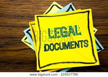 Conceptual Hand Writing Text Caption Inspiration Showing Legal Documents. Business Concept For Contr