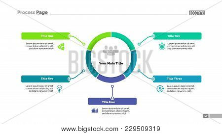 Circle Process Diagram With Five Segments. Step Chart, Timeline, Template. Creative Concept For Info