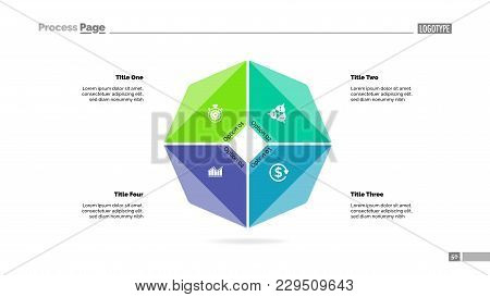 Cycle Diagram With Four Options. Option Chart, Segments, Slide Template. Creative Concept For Infogr
