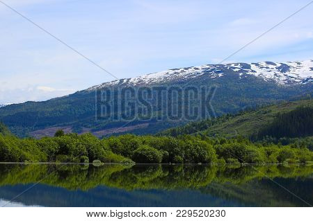 Lake Landscape In Norway