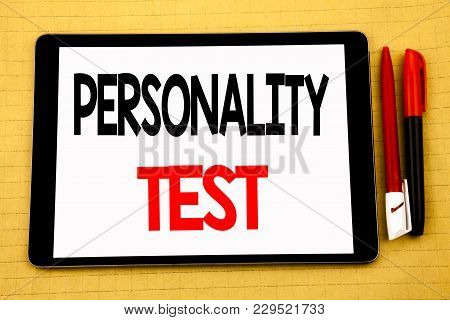 Conceptual Handwriting Text Caption Inspiration Showing Personality Test. Business Concept For Attit