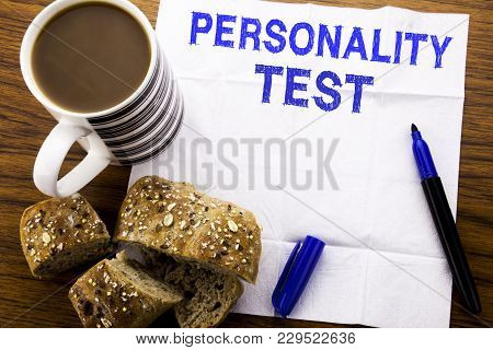 Handwritten Text Showing Personality Test. Business Concept For Attitude Assessment Written On Tissu