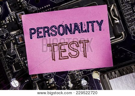 Conceptual Hand Writing Text Caption Inspiration Showing Personality Test. Business Concept For Atti