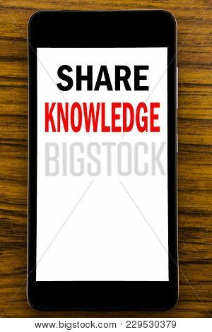 Handwriting Announcement Text Showing Share Knowledge. Business Concept For Education Sharing Writte