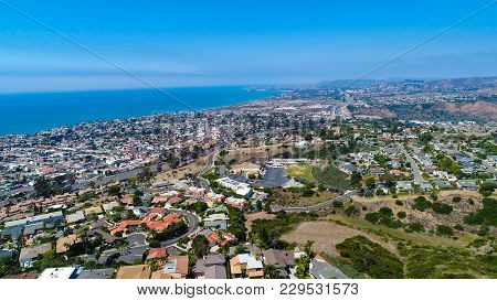 An Aerial Image Of Dana Point Taken From San Clemente
