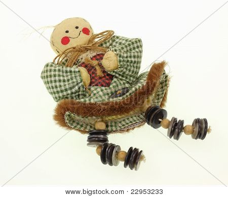 Vintage Button Doll Overhead View