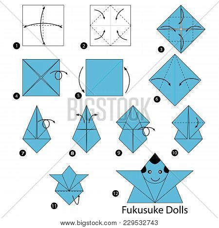 Step By Step Instructions How To Make Origami A Japanese Dolls
