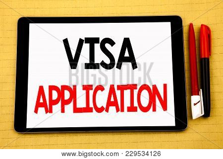 Conceptual Handwriting Text Caption Inspiration Showing Visa Application. Business Concept For Passp