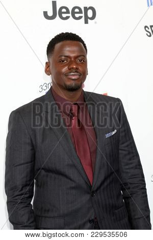 LOS ANGELES - MAR 3:  Daniel Kaluuya_ at the 2018 Film Independent Spirit Awards at the Beach on March 3, 2018 in Santa Monica, CA