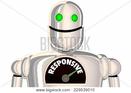 Responsive Robot Process Reaction Speed Rate 3d Illustration