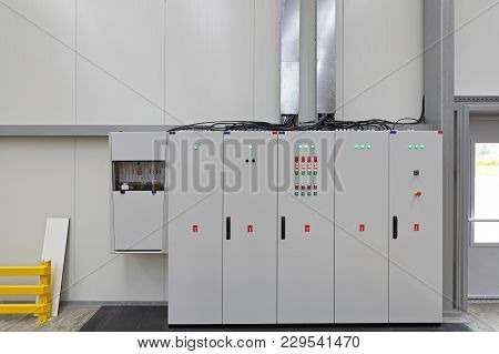 Electrical Power Switchboard Box Enclosure In Warehouse