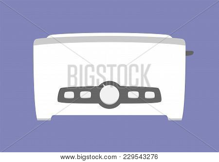 Kitchen Toaster Icon Isolated. Household Appliance. Flat Style. Vector Illustration
