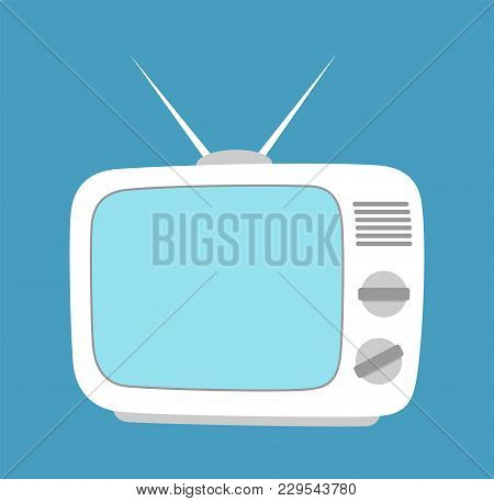 Tv Screen Simple Icon Isolated. Household Appliance. Led Or Lcd Widescreen Tv. Old Tv. Flat Style. V
