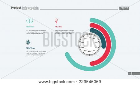 Process Circle Chart Slide Template. Business Data. Graph, Diagram, Design. Creative Concept For Inf