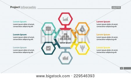 Six Aspects Of Business Slide Template. Business Data. Graph, Chart, Design. Creative Concept For In