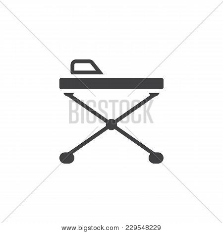 Ironing Board Vector Icon. Filled Flat Sign For Mobile Concept And Web Design. Iron Board Simple Sol