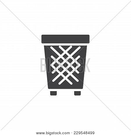 Trash Bin Vector Icon. Filled Flat Sign For Mobile Concept And Web Design. Recycle Bins Simple Solid