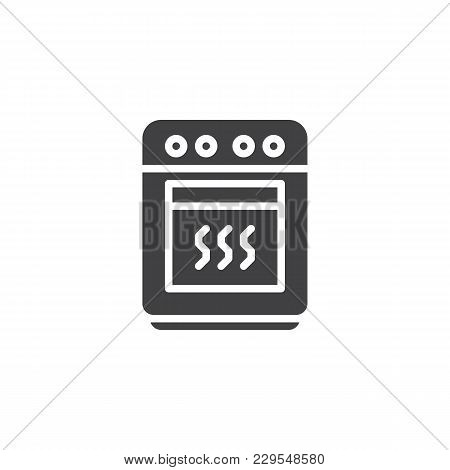 Oven Vector Icon. Filled Flat Sign For Mobile Concept And Web Design. Stove Simple Solid Icon. Symbo