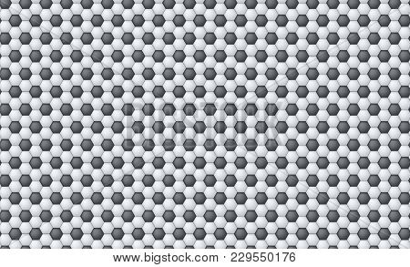 Horizontal Seamless Pattern Of Soccer Or Football Texture Traditional Sport Texture Of Ball For Game