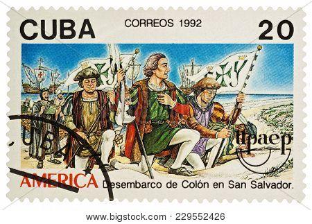 Landing Of Christopher Columbus In America