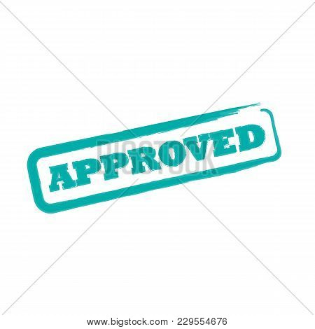 Rubber Office Stamp With The Word Approved. Vector Illustration