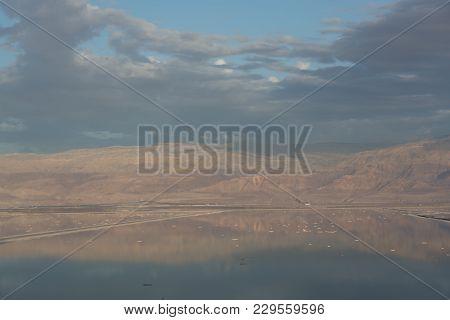 Lowest Salty Lake In World Below Sea Level Dead Sea, Full Of Minerals Near Luxury Vacation Resort Ei
