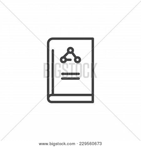 Science Of Chemistry Book Outline Icon. Linear Style Sign For Mobile Concept And Web Design. Educati