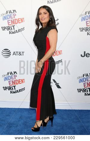 LOS ANGELES - MAR 3:  Salma Hayek Pinault at the 2018 Film Independent Spirit Awards at the Beach on March 3, 2018 in Santa Monica, CA