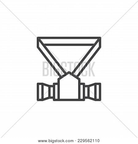 Respirator Outline Icon. Linear Style Sign For Mobile Concept And Web Design. Safety Mask Simple Lin