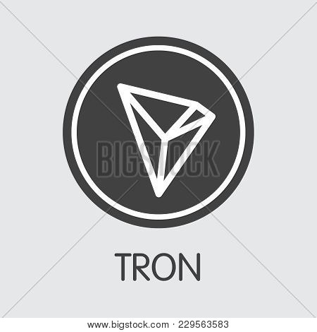 Tron Blockchain Illustration. Blockchain, Block Distribution Trx Transaction Icon