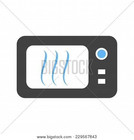 Microwave, Oven, Kitchen Icon Vector Image. Can Also Be Used For Household Objects. Suitable For Use
