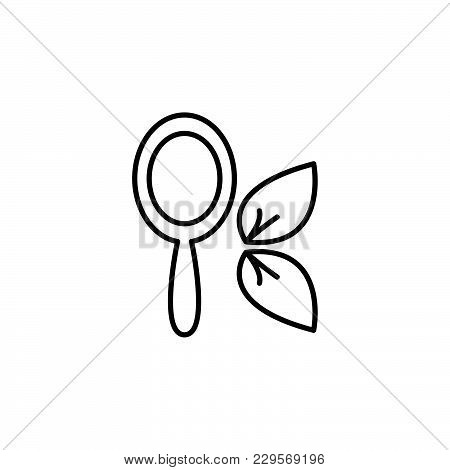 Hand Mirror Icon. Vector Illustration Black On White Background