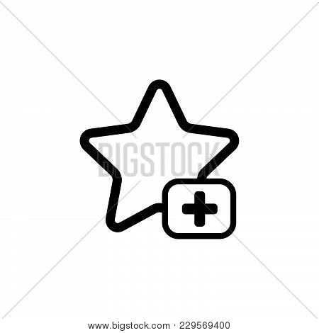 Star Favorite Sign Web Icon. Vector Illustration