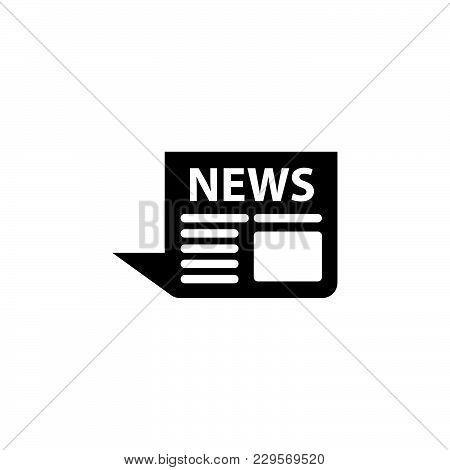 News Icon. Vector Illustration Black On White Background