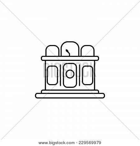 Jury Line Icon. Vector Illustration Black On White Background