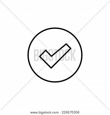 Check Box Line Icon Black On White Background