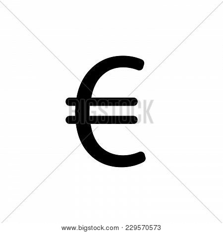 Euro Flat Icon. Vector Illustration. Symbol (sign)