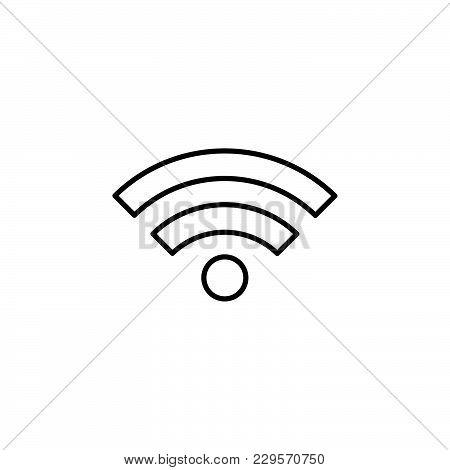 Wi-fi Line Icon. Vector Illustration Black On White Background