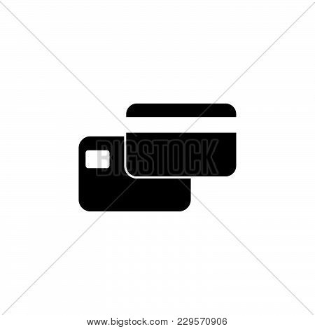 Credit Card Icon. Vector Illustration  Symbol (sign)