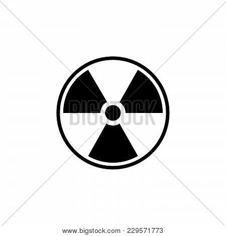 Flat Radiation Icon. Vector Illustration Black On White Background