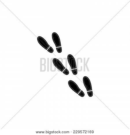 Trail Of Shoe Print Icon Black On White Background