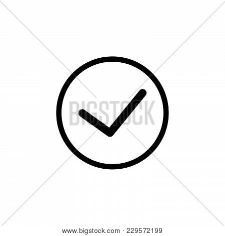Icon Of Check Box. Vector Illustration Black On White Background