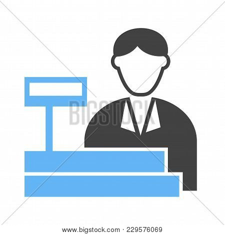 Cashier, Bank, Cash Icon Vector Image. Can Also Be Used For Professionals. Suitable For Web Apps, Mo