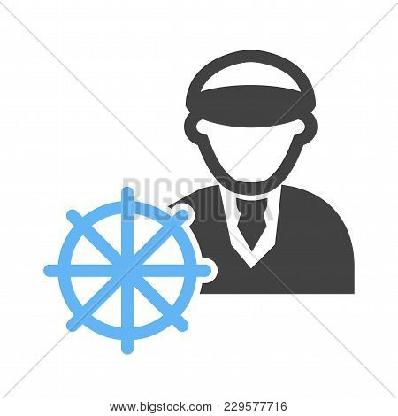 Captain, Ship, Navigation Icon Vector Image. Can Also Be Used For Professionals. Suitable For Web Ap