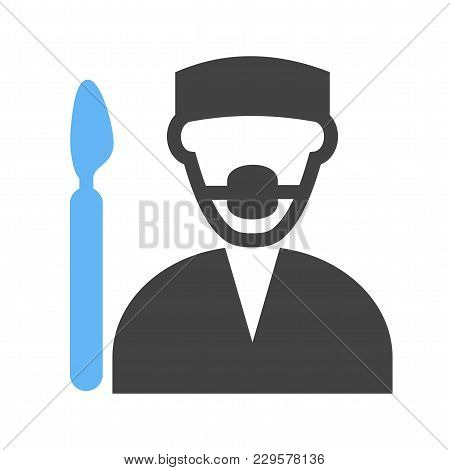 Surgeon, Doctor, Hospital Icon Vector Image. Can Also Be Used For Professionals. Suitable For Web Ap